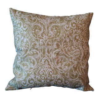 Green Pattern Pillow Cover For Sale