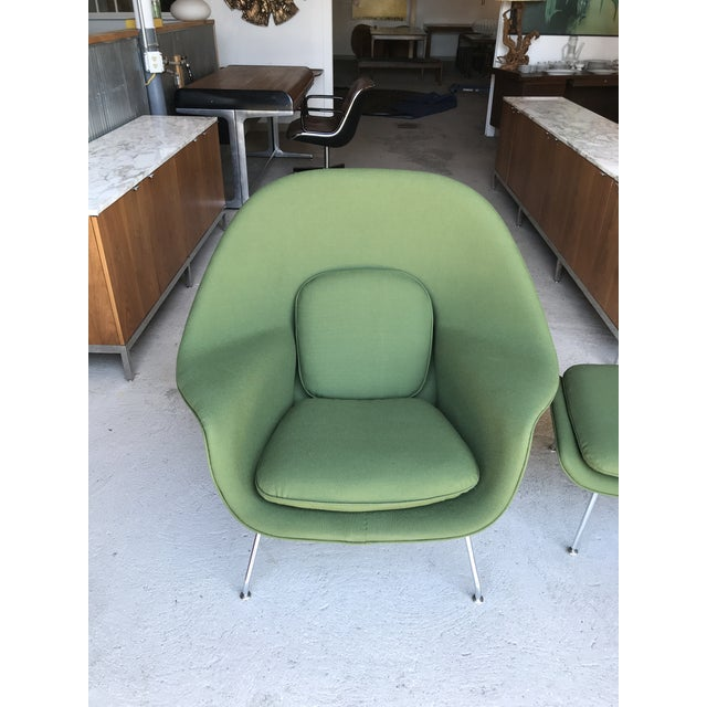 Reupholstered! Knoll Womb Chair Ottoman Eero Saarinen For Sale - Image 9 of 13