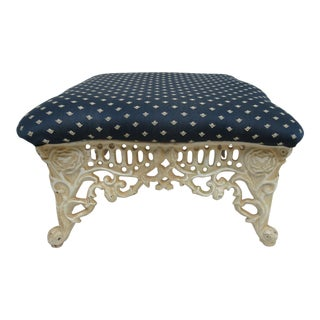 French Regency Cast Iron Foot Stool Ottoman Bench