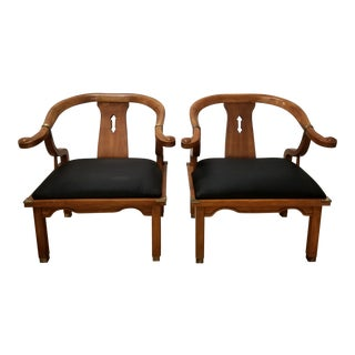 1960s Ming Style Yoke Arm Chairs - a Pair For Sale