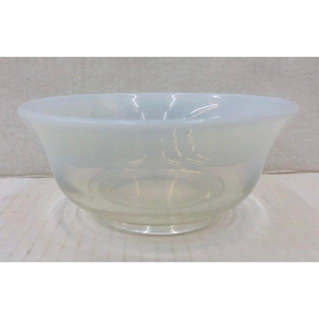 Stunning Vintage Mid Century Modern Eames Era Glass Opaline Ombré Cocktail Dish / Catch All Bowl. Original finish fittings...