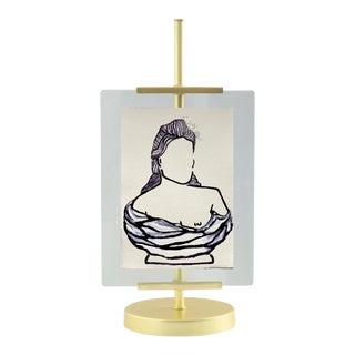 Lindsey Weicht Female Bust No. 2 Easel Framed Drawing For Sale