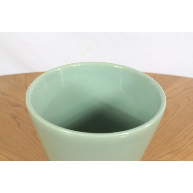 """1950's Gainey Seafoam Green Conical La Verne California 7.5"""" Planter For Sale In Los Angeles - Image 6 of 8"""