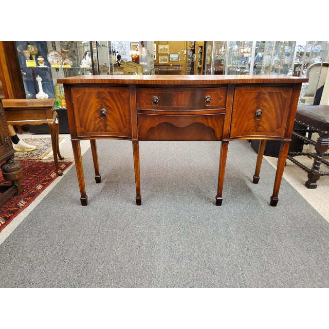 Antique Georgian Style Flamed Mahogany Sideboard For Sale - Image 12 of 13