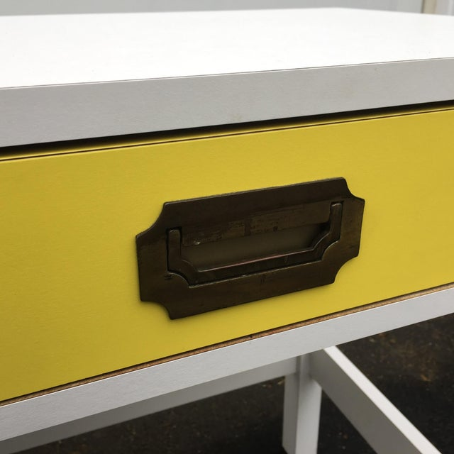 Mid-Century Modern Campaign Desk - Image 7 of 11