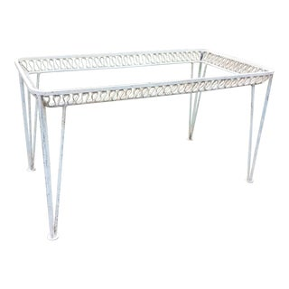 Salterini Wrought Iron Ribbon Dining Table For Sale