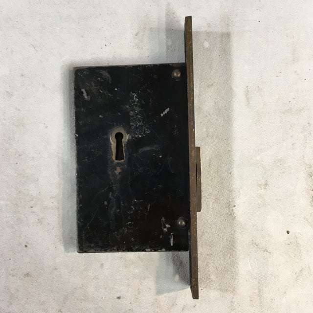Antique Victorian Pocket Door Mortise Lock Boxes - a Pair For Sale - Image 9 of 11