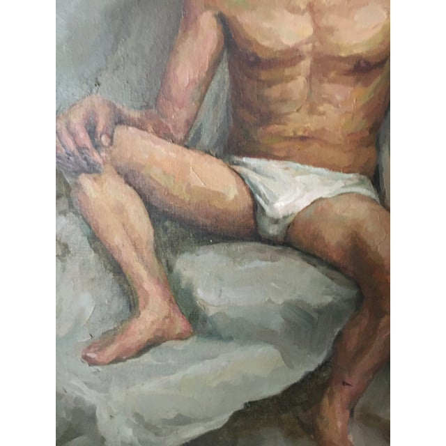 Male Nude Portrait Painting For Sale - Image 4 of 6