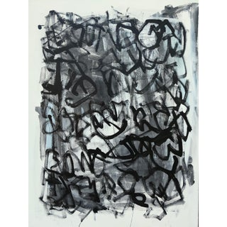 """Sarah Trundle, """"Whirligig"""", Black and White Contemporary Abstract Painting For Sale"""