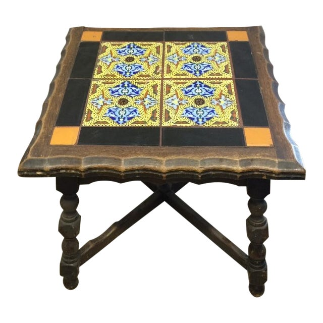 Antique Monterey Tile Table - Image 1 of 6