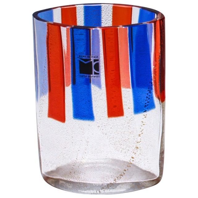 Carlo Moretti Murano Aventurine Glass Vase For Sale In New York - Image 6 of 6
