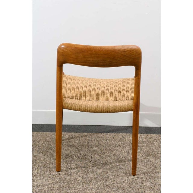 1960s Stellar Original Set of Eight Moller #75 Chairs in Teak For Sale - Image 5 of 10