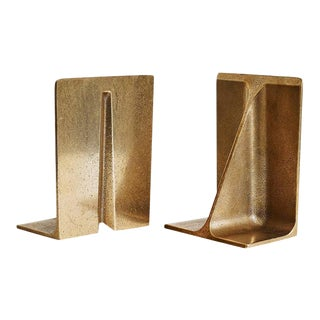 Bronze Bookends by Henry Wilson - a Pair For Sale