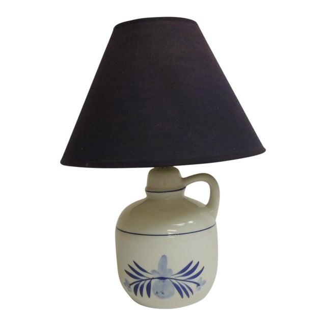 Blue & White Ceramic Table Lamp - Image 1 of 4