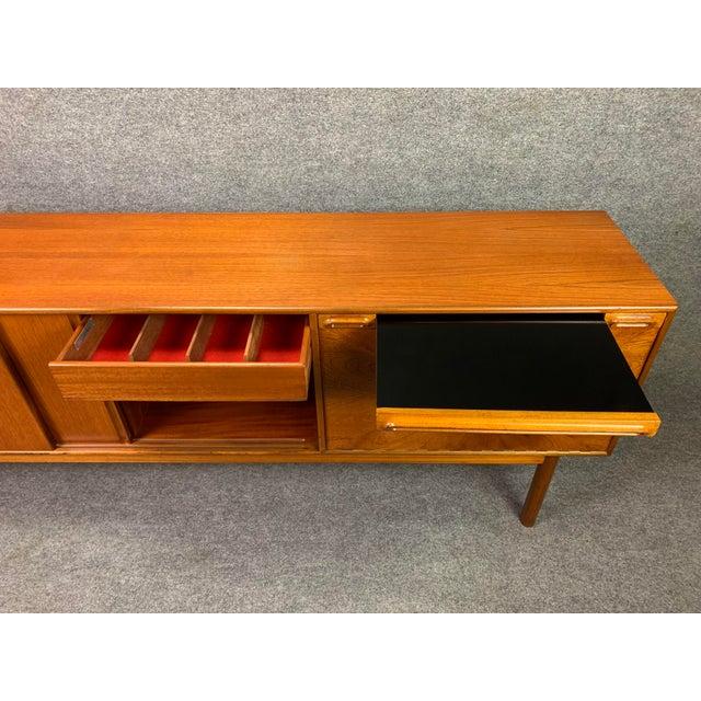 "1960s British Mid Century Modern McIntosh Teak ""Sunburst"" Credenza For Sale - Image 10 of 11"