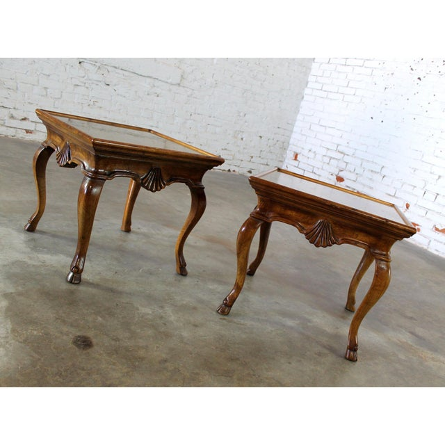 Vintage Brittiany for Heritage Hooved Side Tables - a Pair For Sale - Image 5 of 11