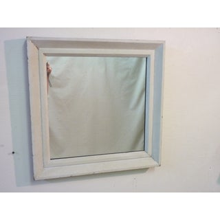 Small Square Whitewashed Mirror Preview
