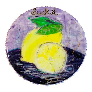 A Modern Painting of Lemons For Sale