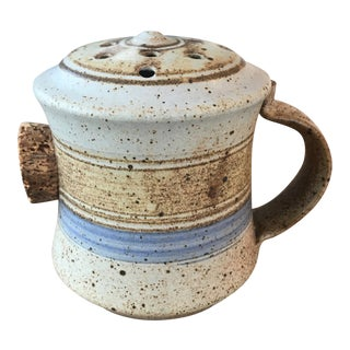 Vintage Studio Pottery Shaker With Cork For Sale