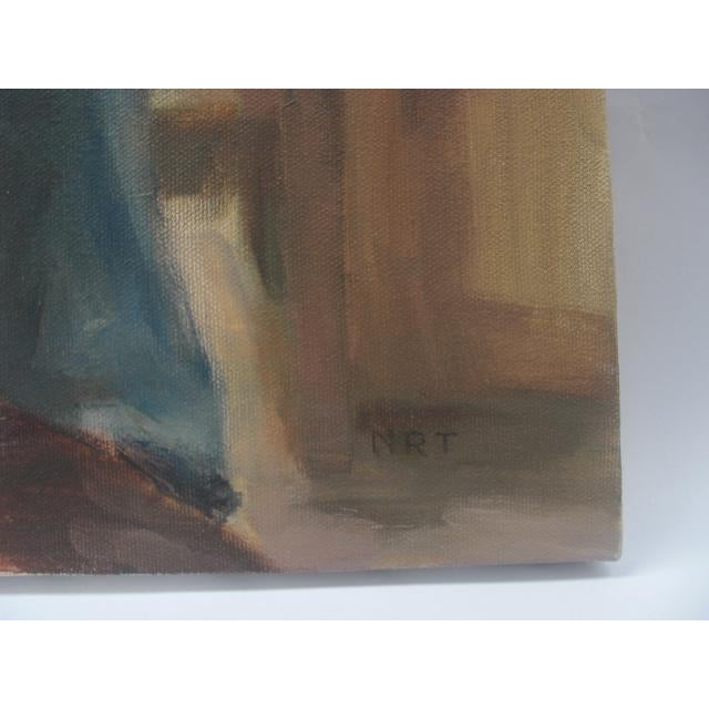 Figurative Painting Of Bearded Man In Striped Shirt - Image 3 of 5