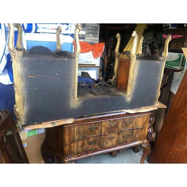 Antique Marble Top Vanity For Sale - Image 11 of 12