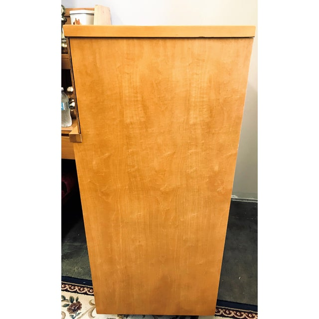 Mid-Century Modern Mid-Century Modern Huntley Blonde Wood Highboy Dresser For Sale - Image 3 of 11