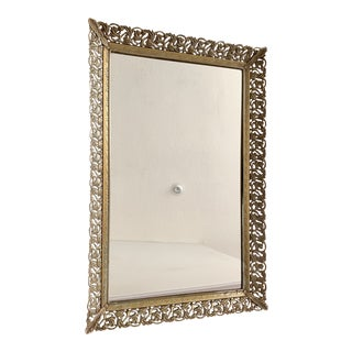 1950s Hollywood Regency Style Rectangular Framed Mirrored Tray For Sale