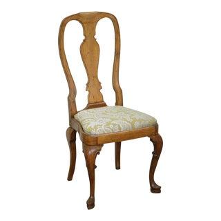 Georgian Queen Anne Style Antique Side Chair