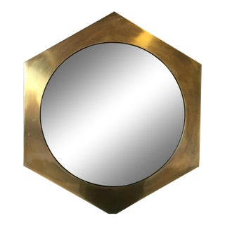 Mastercraft Brass Hexagon Mirror For Sale
