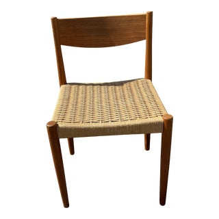 Poul Volther Teak & Woven Cord Chair for Frem Rojle For Sale