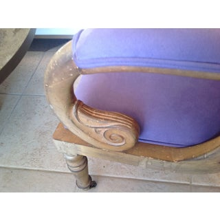 Italian Scroll Desk Chair New Lush Lilac Fabric Mid Century Modern Preview