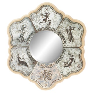 French Mid-Century Pierre Lardin Eglomise Zodiac Wall Mirror For Sale