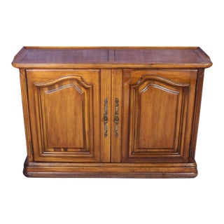 Bordeaux Louis XV French Provincial 2-Door Cabinet For Sale