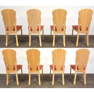 Modern Scalloped Italian Dining Chairs- Set of 8 Preview