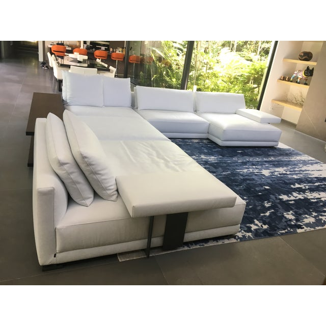Phenomenal Poliform Bristol Leather Couch With Table Short Links Chair Design For Home Short Linksinfo