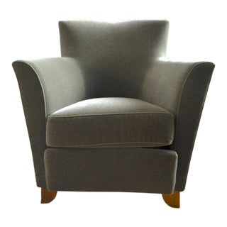 Maison Dominique Chic Armchairs, Newly Reupholstered in Mohair Velvet For Sale