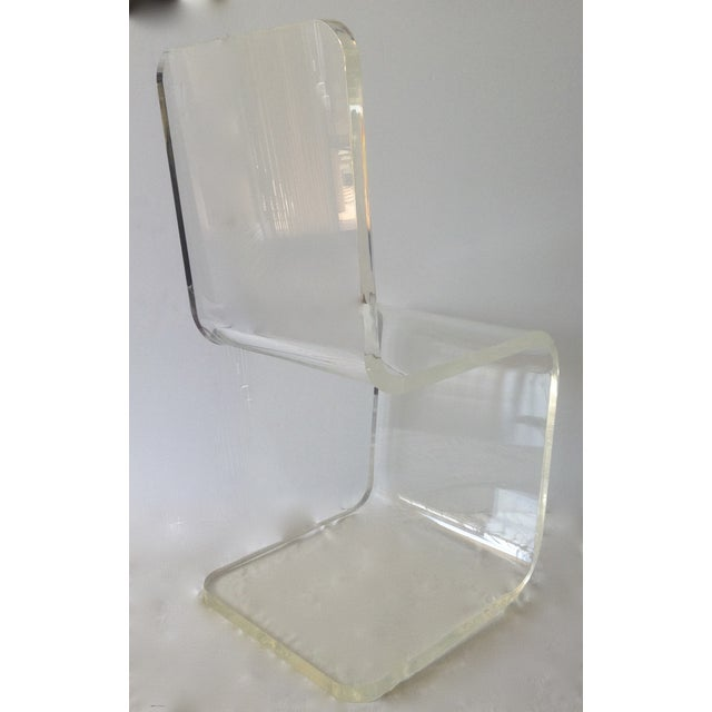 Lucite Vintage Lucite Sculptural Accent Chair For Sale - Image 7 of 11