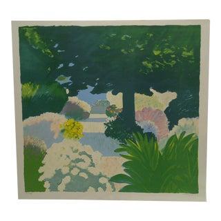 "Limited Edition French ""Le Jardin Mediterranien"" Prin by Muhl"
