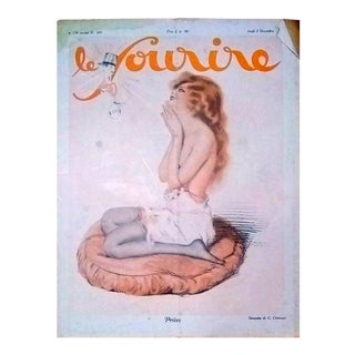 "G. Cirmeuse 1928 ""Priere"" Le Sourire Cover Print For Sale"