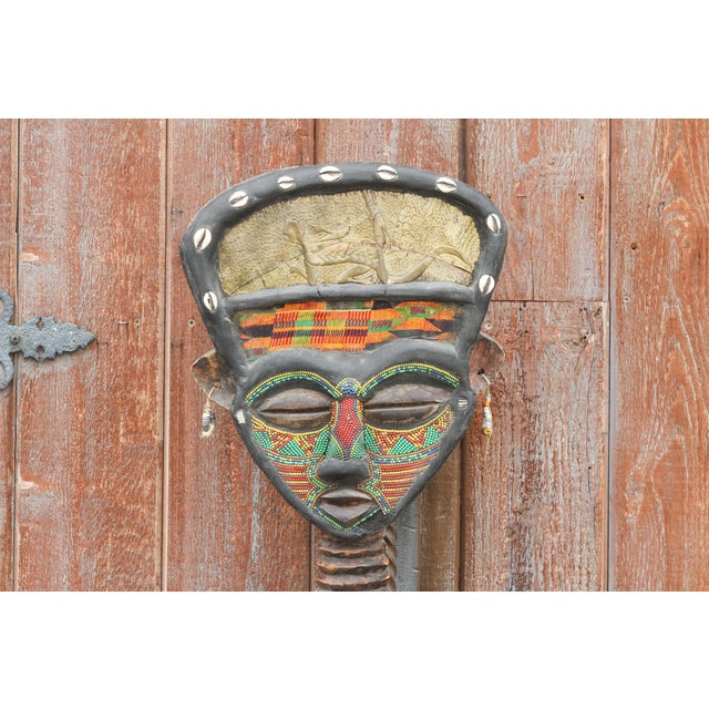 African Bamum African Large Tribal Statue For Sale - Image 3 of 11