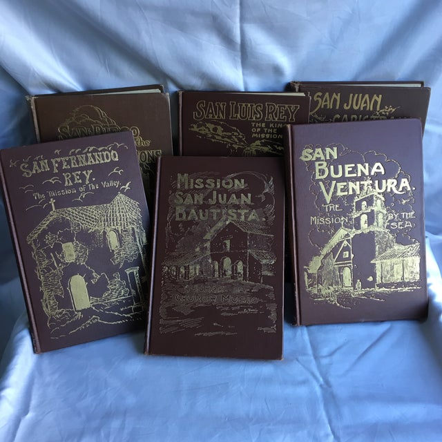 Set of 6 high school text books dated 1921- 1931. San Luis Rey, the king of missions. San Buena Ventura, the mission by...