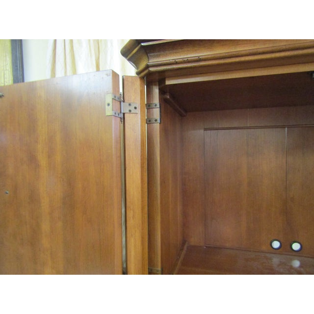 Bamboo Drexel Furniture Split Bamboo Entertainment Hutch For Sale - Image 7 of 9