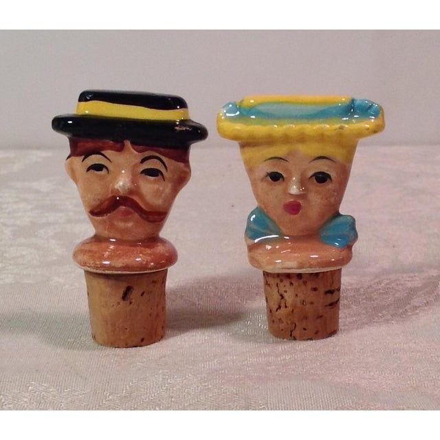 Vintage Italian Figural Bottle Corks - A Pair - Image 2 of 10