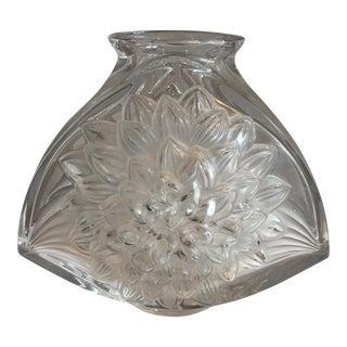 "1970s Hollywood Regency Oversized ""Dahlia"" Crystal Lalique Vase"