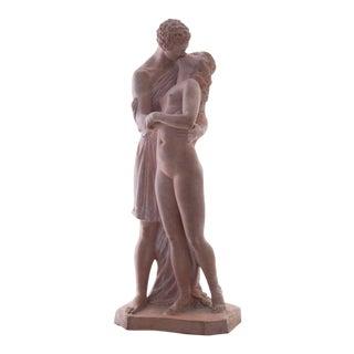 'The Kiss' by Joseph Cormier, Circa 1925; Petit Palais, Paris, Neo-Classical Terracotta Figurative Statue For Sale