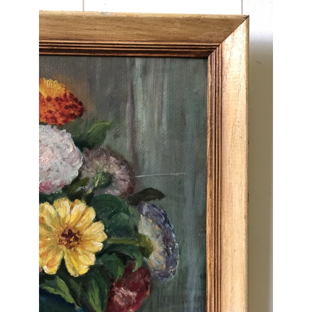 Bright and Cheerful 1940s Floral Still Life For Sale In Atlanta - Image 6 of 13