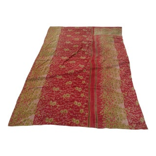 Vintage Sari Fabric Textile For Sale