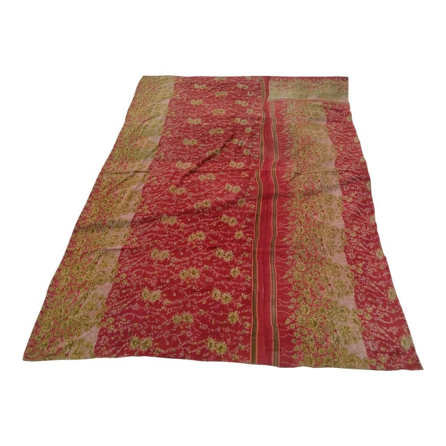 Vintage Sari Fabric Textile For Sale