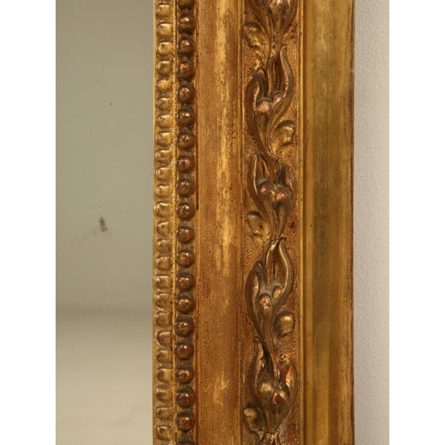 Gold Antique French Gilded Mirror, 1800s For Sale - Image 8 of 11