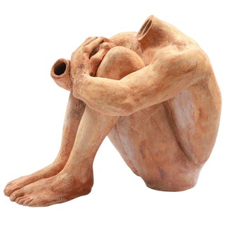 Lifesize Ceramic Figural Sculpture For Sale